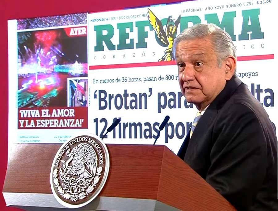 """Reforma desacredita firmas recabadas en consulta popular; AMLO lo califica de """"pasquín"""""""